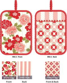 Kitchen Confections in Moda's Vintage Modern: Patchwork Oven Mitts | Sew4Home