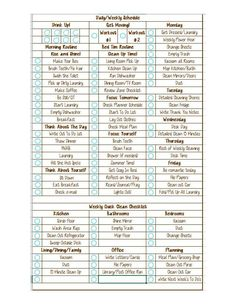 This is the ultimate in checklists! On the front you have your morning/evening checklists, daily checklists, and weekly checklists, and then flip it Fall Cleaning Checklist, Home Maintenance Checklist, Daily Checklist, Cleaning Tips, Budget Organization, Phone Organization, Daily Routine Planner, Monthly Budget Planner, 21 Day Fix Meal Plan