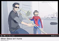 Qhen steve isn't home. Stony superfamily