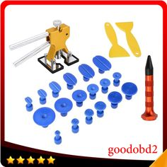 ==> [Free Shipping] Buy Best PDR Tools Golden Dent Lifter with 18X PDR Puller Tabs Pad-One Tap Down Pen for Car Dent Removal Paintless Dent Repair ToolGift Online with LOWEST Price | 32748626800