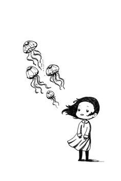 """Girl and the Jellyfish"", by Freeminds"