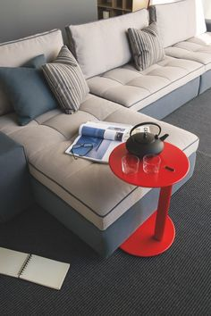 Gorgeous sofa and side table by Calligaris.  Available at Hold It Contemporary Home in San Diego.  www.HoldItHome.com #SanDiego #Calligaris #Sofa #LivingRoom #HoldItHome