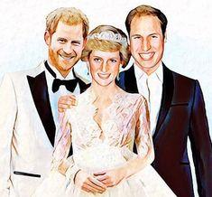 Lady Di com Harry e William (Foto: Autumn Ying) Princess Diana Family, Real Princess, Princess Of Wales, Harry And Meghan Wedding, Prince Harry And Meghan, Lady Diana Spencer, Princesa Diana, Windsor, Nora