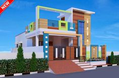 Front Elevation Designs, House Elevation, Door Design, House Design, House Front, Exterior, Mansions, House Styles, Modern
