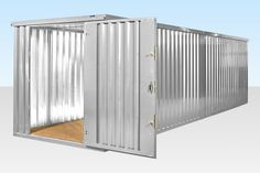 2 x 4m End Linked Flat Packed Container Bundle (Galvanised) - £2,752.00