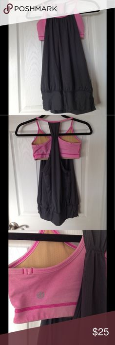 GUC Lululemon tank GUC Lululemon tank with built in bra. Perfect for yoga or other low impact activities. Removable padding. Shows normal signs of wear but has lots of life left! lululemon athletica Tops Tank Tops