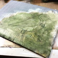 Working on a new shorebird piece. #art #birds #painting #mixedmedia