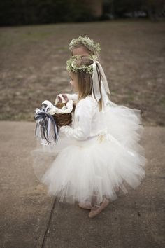 baby's breath crown and tutu skirt!  { Ask Cynthia }: Wedding Inspirations | Flower Girls