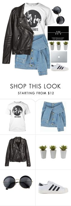 """""""#AM"""" by credentovideos ❤ liked on Polyvore featuring H&M, Nearly Natural, adidas Originals, women's clothing, women, female, woman, misses, juniors and AM"""
