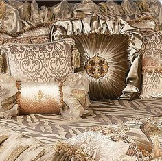 Reilly-Chance Collection Luxury Bedding ~ gift cards available! Bling Bedroom, Bedroom Bed, Dream Bedroom, Bedroom Decor, Bed Curtains, Canopy Beds, Dreams Beds, Luxury Bedding Collections, Shabby Chic