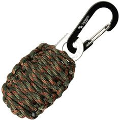 "The Friendly Swede Carabiner ""Grenade"" Survival Kit with Sharp Eye Knife"