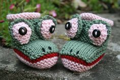 Froggy Baby Booties Pattern