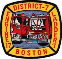 Boston Fire Department Engine 17 Ladder 7 District 7 Patch Massachusetts MA