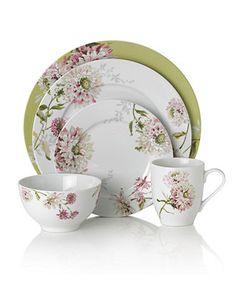 Mikasa Dinnerware, Silk Floral Pink 4 Piece Place Setting - Casual Dinnerware - Dining & Entertaining - Macy's