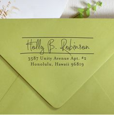 Self Inking Address Stamp - cute personal wedding housewarming gift - 1007. $29.95, via Etsy.