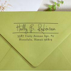 Self Inking Address Stamp.