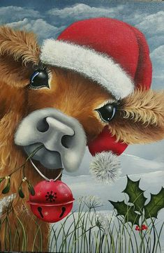 (notitle) - Projects for later - Holz Santa Paintings, Christmas Paintings On Canvas, Christmas Canvas, Christmas Projects, Christmas Art, Vintage Christmas, Christmas Holidays, Christmas Decorations, Christmas Ornaments