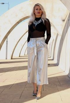 Look by @danielacorcodel with #primark #zara #pants #metallic.