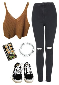 """""""Only u"""" by rocroyalzboo ❤ liked on Polyvore featuring Topshop, Vans, ASOS and Jura"""