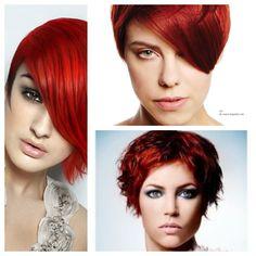 Even een Kerst Look! Kapsels Rood Haar! Voor Wie even het echte Kerst gevoel wilt hebben…Rood Haar!! FacebookPinterest