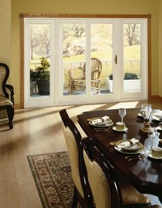 Desert King Windows' Riviera French patio door replacement combines the style of a French Door into a sliding patio door. Sliding Patio Doors, Sliding Glass Door, Glass Doors, Garage Doors, House Windows, Windows And Doors, Upvc Windows, Sliding Door Replacement, Patio Steps