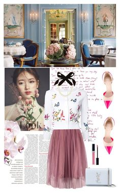 """""""TRAVEL TO GANEVA"""" by xoxobs19 ❤ liked on Polyvore featuring Oscar de la Renta, Givenchy, Yves Saint Laurent, Lulu Frost and Christian Dior"""