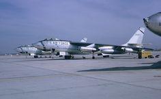B-47 Stratojets at Torrejon AB, Spain in 1959.
