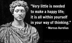 Marcus Aurelius Quote on Happiness