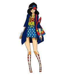 Superhero Fashion Sketches