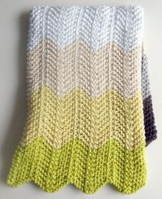 Chevron baby blanket - purl bee. Made this for my daughter. Love it!