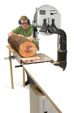 Simple Lumber Maker By Jay McClellan I've turned my bandsaw into a mini sawmill with the help of one dirt-simple jig and a pair of extension tables. The jig is nothing more than a piece of plywood screwed to the log. It steadies the log when I cut the first slab and provides additional support when I rotate the log to saw boards (see photo, below). My bandsaw is equipped …
