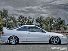Silver Acura integra