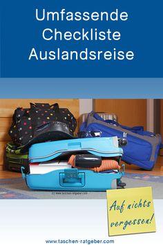 So vergisst du auf bestimmt nichts bei deiner nächsten Urlaubsreise ... Suitcase, Blog, Holiday Travel, Tips And Tricks, Things To Do, Dime Bags, Future, Suitcases, Blogging