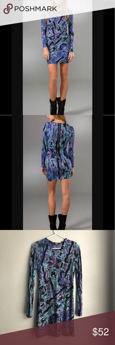 SALE Torn by Ronny Kobo Graffiti Dress Torn by Ronny Kobo Blue Tara Cosmic Abstract Dress. Semi sheer sleeves. Lined at front.  Double-layered at back. Absolutely gorgeous dress. Torn by Ronny Kobo Dresses