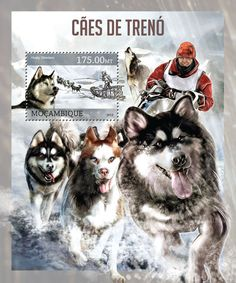 Sled Dogs - Issue of Mozambique postage Stamps