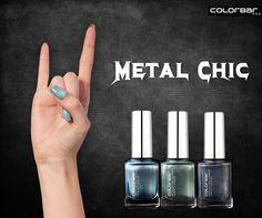 Rock on with ColorBar! Indulge in metallic shades from ColorBar's lustrous range of nail polish and own the look! http://bit.ly/Metallic_Nail_Lacquer #Metal #NailPolish #Rock #Chic