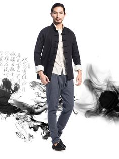 """Handsome """"Jin Xian"""" Style Men's Chinese Jacket"""