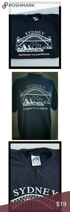 AUSTRALIA Brand Tee shirt NWOT Navy Blue Crewneck Tee Shirt. Sydney, Australia opera house. Short sleeves. 100 % Cotton Australia Australia Shirts Tees - Short Sleeve