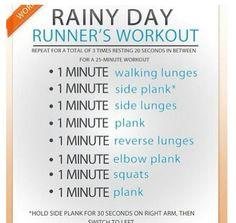 Rainy day workout!