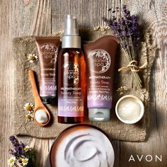 WORTH me: Relax & rejuvenate with our French lavender and chamomile essential oils pre-sleep must-haves. Avon Planet Spa, Chamomile Essential Oil, Essential Oils, Lotion, French Lavender, Avon Representative, K Beauty, Mists, Planets