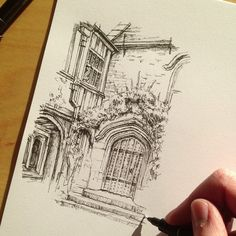 #art #drawing #pen #sketch #illustration #black #architecture #house #building #quicksketch #urbansketching