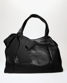 $149.99 Black tote with a bow from anne taylor
