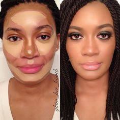 Makeup Contouring And Highlighting: What You Need To Know Love Makeup, Makeup Tips, Beauty Makeup, Makeup Looks, Hair Beauty, Contour Makeup, Contouring And Highlighting, Skin Makeup, Makeup Contouring