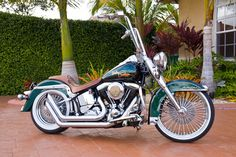 custom harley davidson motorcycles | custom 1993 softail heritage choppers harley davidson motorcycles - love the spokes