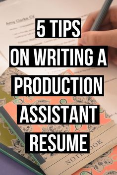 Article How to write a production assistant resume/ cv . Plus cover letter examples. | filmmaker | filmmaking article