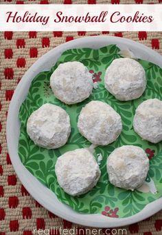 Holiday Snowball Cookies Mexican Wedding W Out Pecans