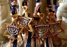 Menorah & Star of David Tzitzits