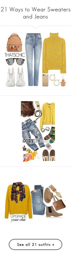 """""""21 Ways to Wear Sweaters and Jeans"""" by polyvore-editorial ❤ liked on Polyvore featuring waystowear, sweatersandjeans, Etro, Yves Saint Laurent, Minna Parikka, Mykita, Fendi, Nordstrom, Casetify and Kate Spade"""