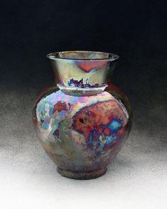 decorative teapot ceramic RAKU enameling with manganese oxide ceramic raku Ceramic