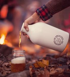 Bright White Steel Growler by Shine Craft Vessel Co. on Scoutmob